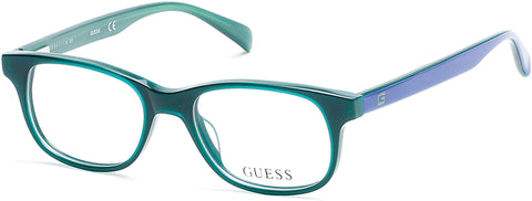 Guess - GU9161 Shiny Dark Green Eyeglasses / Demo Lenses