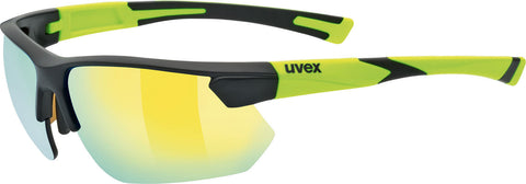 UVEX Sport - Sportstyle 221 Matte Black Yellow Sunglasses / Yellow Mirror Lenses