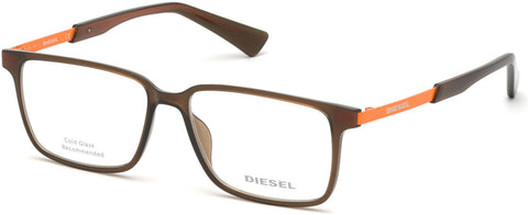 Diesel - DL5290 Shiny Light Brown Eyeglasses / Demo Lenses