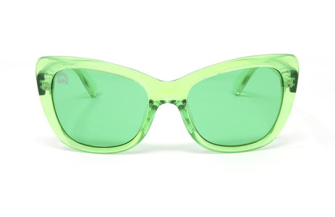 RainbowOPTX - Vega Transparent Green Sunglasses / Green Lenses