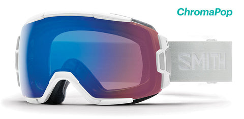 Smith - Vice Asian Fit White Vapor Snow Goggles / ChromaPop Storm Rose Flash Lenses