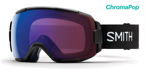 Smith - Vice Asian Fit Black Snow Goggles / ChromaPop Photochromic Rose Flash Lenses