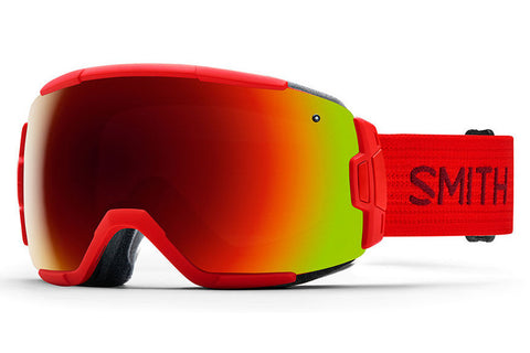 Smith - Vice Asian Fit Fire Goggles, Red Sol-X Mirror Lenses