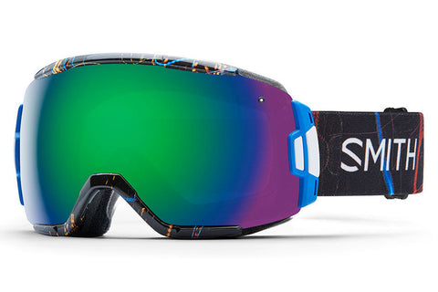Smith - Vice Asian Fit Exposure Goggles, Green Sol-X Mirror Lenses