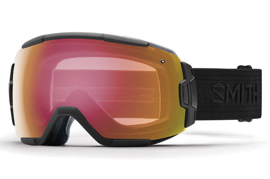 Smith - Vice Black - Black Goggles, Red Sensor Mirror Lenses