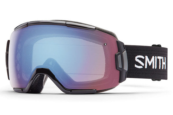 Smith Vice Black Goggles, Blue Sensor Mirror Lenses
