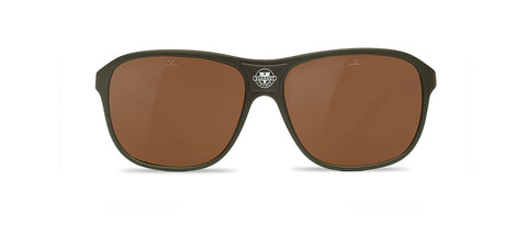 Vuarnet - Legend 03 Matte Khaki Sunglasses / Pure Brown Lenses