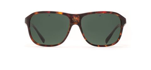Vuarnet - Legend 03 56mm Tortoise Sunglasses / Grey Polarized Lenses