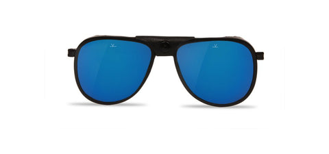 Vuarnet - Glacier Matte Black Sunglasses / Pure Grey Blue Flash Lenses
