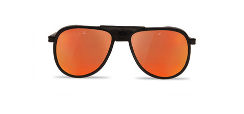 Vuarnet - Glacier Matte Black Sunglasses / Pure Grey Red Flash Lenses
