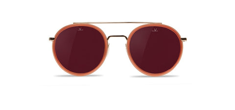 Vuarnet - Edge 1613 Red Brick Sunglasses / Pure Brown Purple Flash Lenses