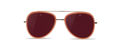 Vuarnet - Edge 1614 Red Brick Sunglasses / Pure Brown Purple Flash Lenses