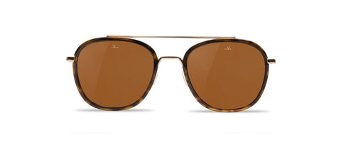 Vuarnet - Edge 1615 Tortoise Gold Sunglasses / Brown Polarized Lenses