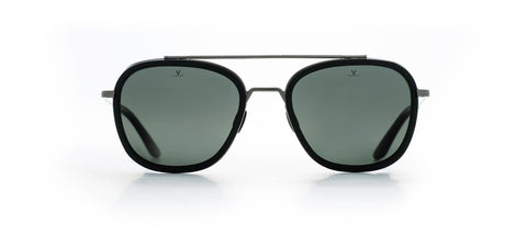 Vuarnet - Edge 1615 Matte Black Sunglasses / Grey Polarized Lenses