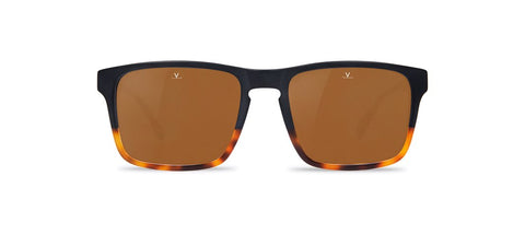 Vuarnet - District 1619 Matte Black Tortoise Sunglasses / Brown Polarized Lenses