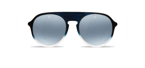 Vuarnet - Ice 1709 Gradient Blue Crystal Sunglasses / Blue Polarlynx Lenses