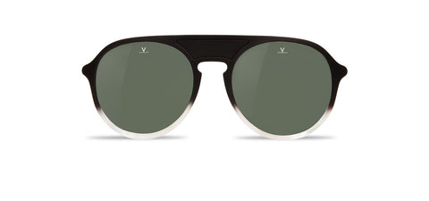 Vuarnet - Ice 1709 Gradient Black Crystal Sunglasses / Grey Polarized Lenses