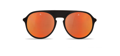 Vuarnet - Ice 1709 Matte Black Sunglasses / Pure Grey Red Flash Lenses