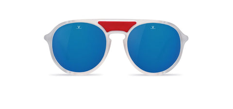 Vuarnet - Ice 1709 Matte Crystal Sunglasses / Grey Polarized Blue Flash Lenses