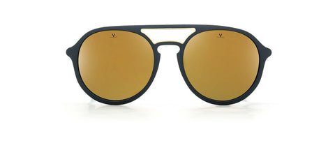 Vuarnet - Ice 1709 Matte Metalized Blue Sunglasses / Pure Brown Bronze Flash Lenses
