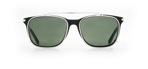 Vuarnet - Clip On 1801 Black Sunglasses / Pure Grey Lenses