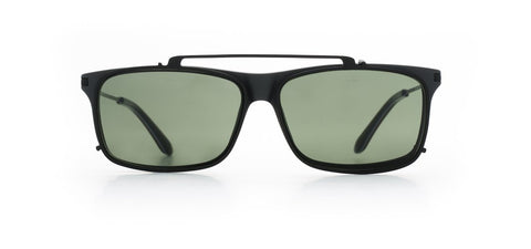 Vuarnet - Clip On 1803 Matte Dark Grey Sunglasses / Pure Grey Lenses