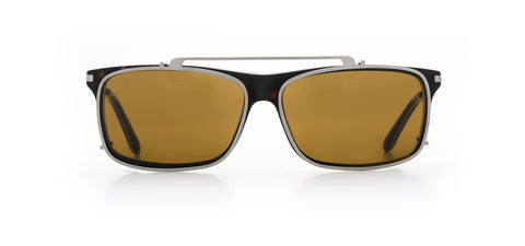 Vuarnet - Clip On 1803 Matte Dark Tortoise Sunglasses / Pure Brown Lenses