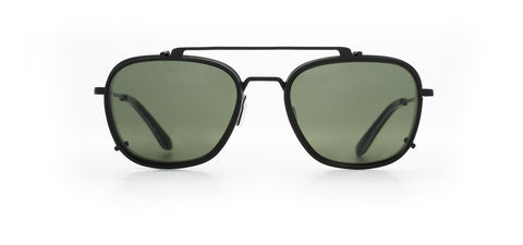 Vuarnet - Clip On 1804 Matte Black Sunglasses / Pure Grey Lenses