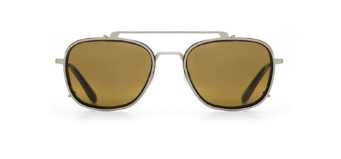 Vuarnet - Clip On 1804 Matte Tortoise Sunglasses / Pure Brown Lenses