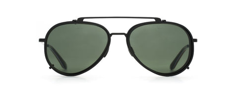 Vuarnet - Clip On 1805 Matte Black Sunglasses / Pure Grey Lenses