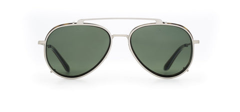 Vuarnet - Clip On 1805 Dark Tortoise Gunmetal Sunglasses / Pure Grey Lenses