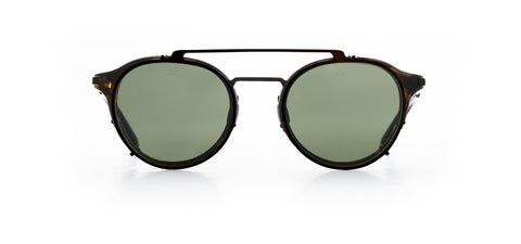Vuarnet - Clip On 1806 Tortoise Matte Black Sunglasses / Pure Grey Lenses