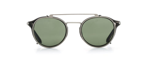 Vuarnet - Clip On 1806 Horn Matte Gunmetal Sunglasses / Pure Grey Lenses
