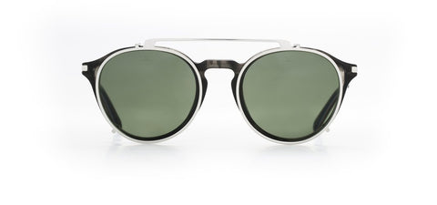 Vuarnet - Clip On 1806 Horn Silver Sunglasses / Pure Grey Lenses