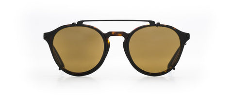 Vuarnet - Clip On 1806 Tortoise Matte Black Sunglasses / Pure Brown Lenses