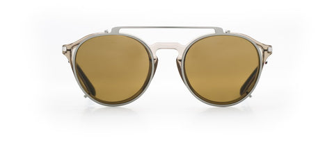 Vuarnet - Clip On 1806 Light Grey Gunmetal Sunglasses / Pure Brown Lenses