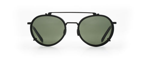 Vuarnet - Clip On 1808 Matte Black Sunglasses / Pure Grey Lenses