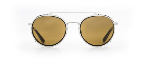 Vuarnet - Clip On 1808 Dark Tortoise Gunmetal Sunglasses / Pure Brown Lenses