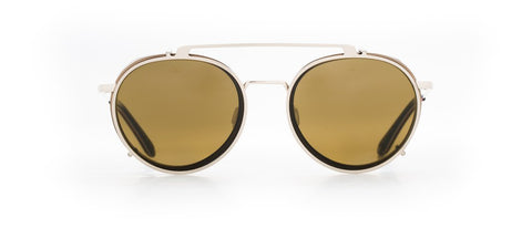 Vuarnet - Clip On 1808 Dark Grey Gold Sunglasses / Pure Brown Lenses