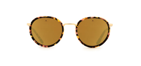 Vuarnet - Ice 1809 Pink Tortoise Sunglasses / Pure Brown Bronze Flash Lenses