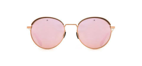 Vuarnet - Cap 1814 Black Gold Pink Sunglasses / Pure Brown Pink Flash Lenses