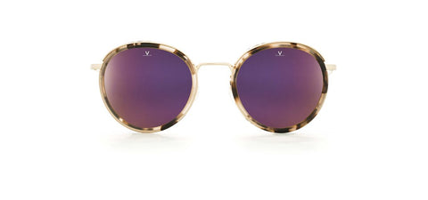 Vuarnet - Cap 1818 Rose Tortoise Sunglasses / Pure Brown Purple Flash Lenses