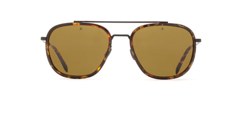 Vuarnet - Edge 1907 58mm Tortoise Sunglasses / Brown Polarized Lenses