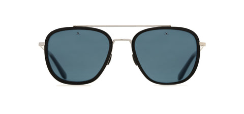 Vuarnet - Edge 1907 Black Flag Sunglasses / Blue Polarized Lenses