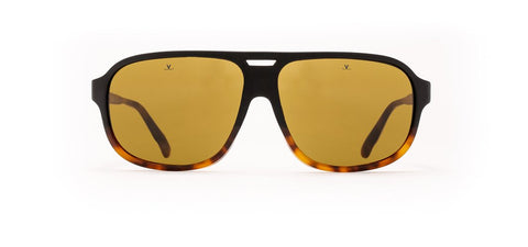 Vuarnet - District 1910 Black Tortoise Sunglasses / Pure Brown Lenses