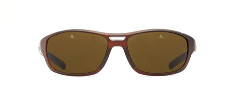 Vuarnet - Racing 1918 61mm Crystal Brown Black Sunglasses / Brown Polarized Lenses