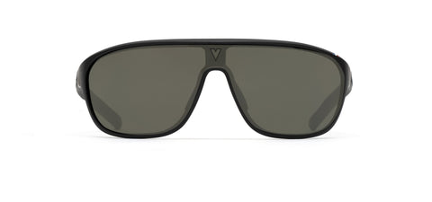 Vuarnet - 180 1929 Matte Black Grey Sunglasses / Pure Grey Green Lenses