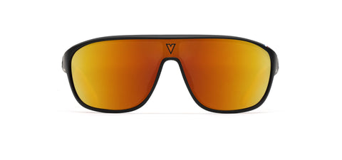 Vuarnet - 180 1929 Matte Black Orange NXT HD Photochromic Brown Sunglasses / NXT HD Photochromic Orange Lenses