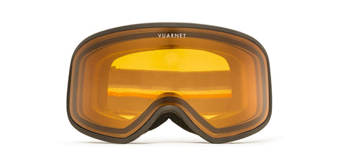 Vuarnet -  Matte Black Snow Goggles / Photochromique Orange Lenses