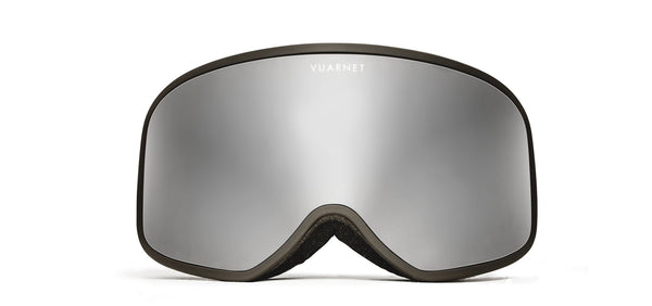 Vuarnet -  Matte Black Snow Goggles / Grey Silver Flash Lenses